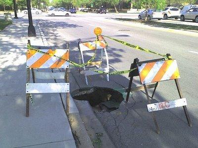 lubang jalan di cicago