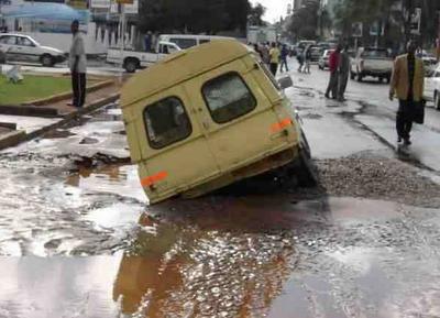 lubang jalan zimbabwe