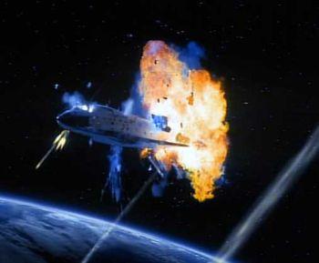 bencana meteor pesawat ulak alik